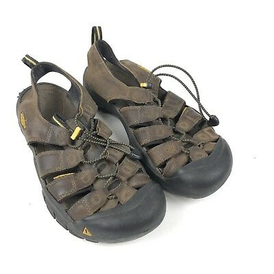 6ce5e26b6 Keen Mens Sandals Waterproof Washable Earth Brown Leather Size 10