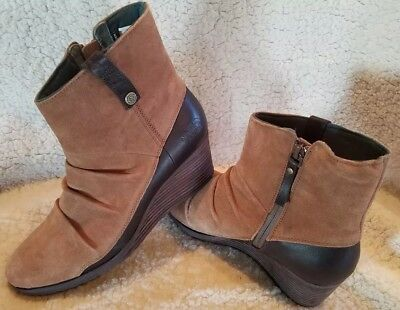 a4c5cf64aaad The North Face Bridgeton Ankle Wedge Leather Zip Up Boot Bootie 9 NEW  150