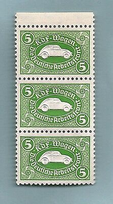 3 1938 Nazi Germany embossed VW Volkswagen Third 3rd Reich savings stamps MNH