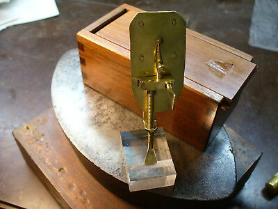 "Leeuwenhoek Brass Microscope ""Antique"" Hand Made Reproduction"