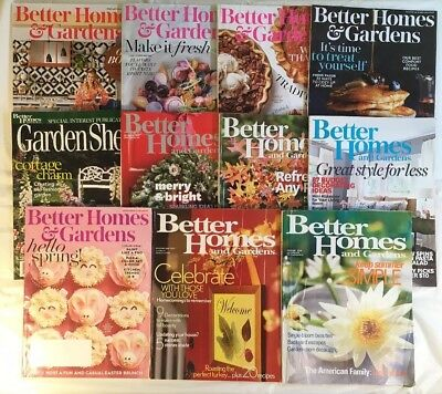 BETTER HOMES AND Gardens Magazine Lot of 11 - 2000's - Spring, Christmas,  Decor