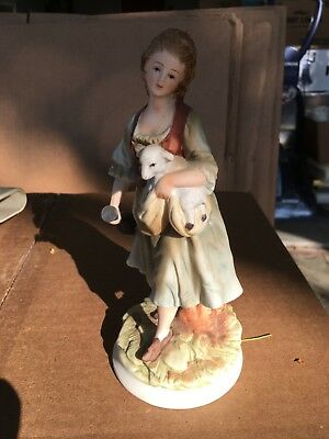Andrea by Sadek Man and Woman 8259 Pair of Porcelain Figurines