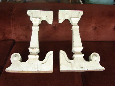 Vintage Corbels  Early Victorian Entryway Roof Eave Supports - Shabby