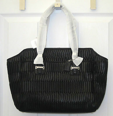 5247a1c693 ... discount code for nwt 698 coach 25252 taylor gathered leather alexis  carryall tote bag black 0b602