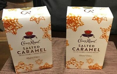 Lot Of 2 Crown Royal Salted Caramel Limited Edition Bottles - NIB