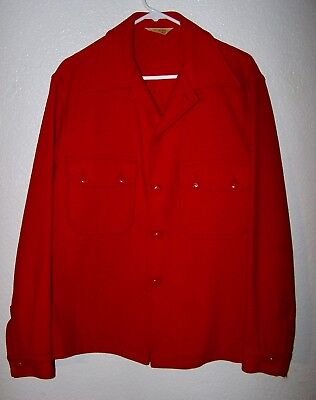 Vintage Wool BSA Boy Scout  Boy Scouts Red Jacket Coat  M  NEVER PATCHED