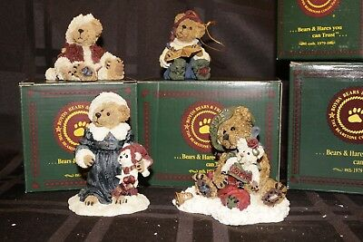 Boyds, Bearstone Collection ~ Lot of 4 ~ Christmas Figurines