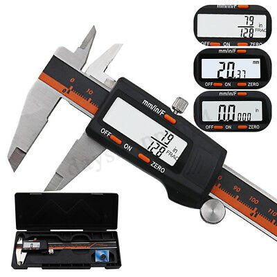 150mm Stainless Steel LCD Screen Display Digital Vernier Caliper Fraction/MM/IN