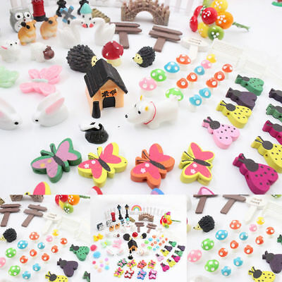 88x Miniature Fairy Garden Ornament Pot DIY Craft Accessories Dollhouse decor CR