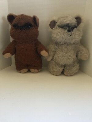 VTG 1983 Kenner Star Wars Return of the Jedi Wicket & Princess Kneesa Ewok Plush