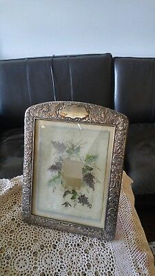"""Beautiful Huge 15"""" X 11 1/2"""" Antique Ornate Silver Plated Picture Photo Frame"""