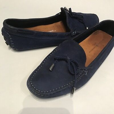 90c749bebd7 Mercanti Fiorentini Women s Blue Suede Leather Driving Moccasins Loafers Sz  9 B