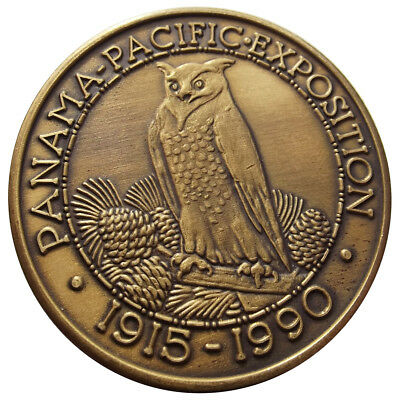 1990 Panama-Pacific Exposition 75th Anniversary Medal - San Francisco Token, BZ