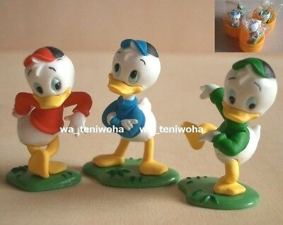 New Set Huey, Dewey and Louie Duck So Tiny! 3 Figures Disney Choco Egg