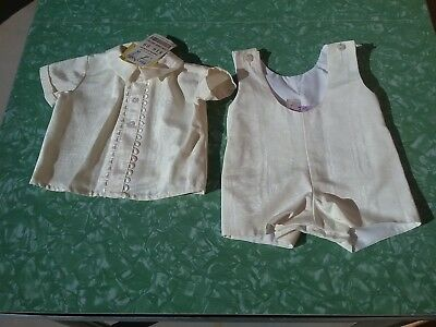 Vintage NWT baby romper outfit new tag matching set Valentines wedding Easter