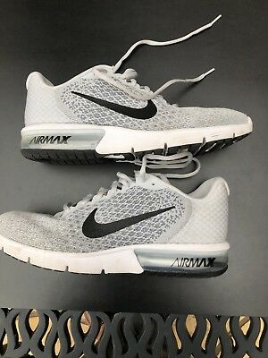 947ab888e1a Nike Air Max Sequent 2 Running Shoes 852461-002 Platinum Black Men s Multi  Size