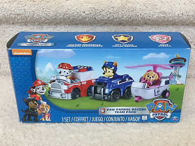 f935a500c NEW Paw Patrol Racers Team Pack Rescue Marshall, Chase, and Stella  Nickelodeon
