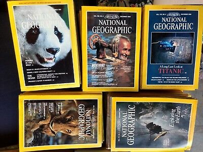 NATIONAL GEOGRAPHIC  Magazines 1960s-2000s