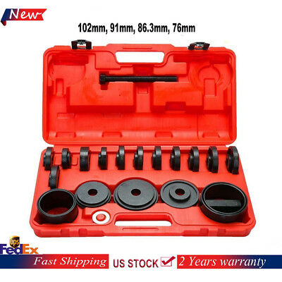 23Pc New Front Wheel Drive Bearing Kit Removal Adapter Puller Pulley Hand Tools
