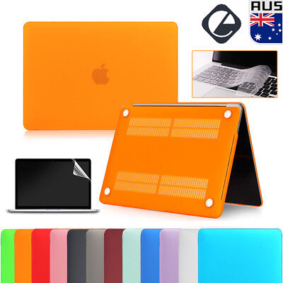 For MacBook Air Pro All Models Rubberized Shell Case Keyboard Cover Screen Film