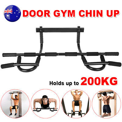 Chin Up Pull Bar Door Doorway Muscle Power Fitness Portable Gym Exercise Station