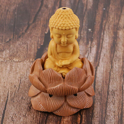 Wooden Buddhism Buddha Tathagata Statue Carving Figurine Collection Ornament