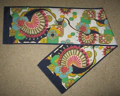 VINTAGE 1960s SILK  LONG SCARF  GOOD CONDITION