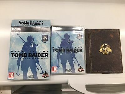 Rise of the Tomb Raider 20 year celebration pc box, art book and carton box UK