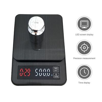 Portable Digital LED Coffee Drip Scale with Timer Kitchen Bar 3kg/0.1g 5kg/0.1g