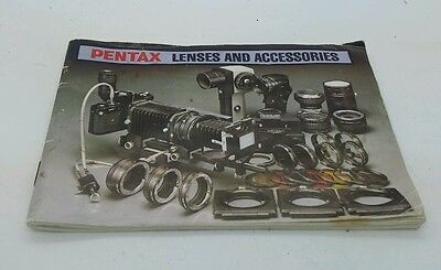 Pentax film manual LENSES AND ACCESSORIES guide book 62p.