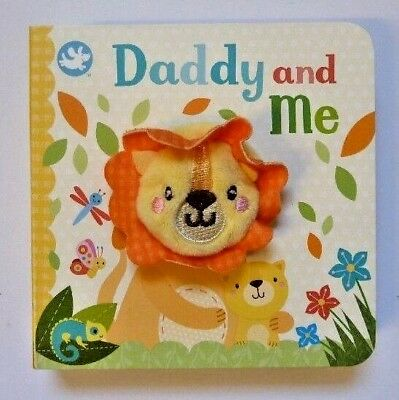 Little Learners Daddy And Me Finger Puppet Board Book For Kids Ages 2 years+ New