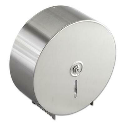 Bobrick 2890 Jumbo Toilet Tissue Dispenser, Stainless Steel, 10.625w X 10.625h X