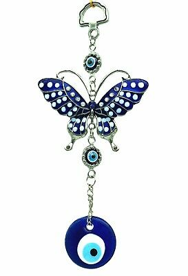 Evil Eye on Butterfly Amulet or Hanging