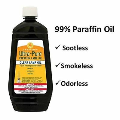 Ultra Pure Paraffin Lamp Oil Clear Smokeless Odorless and Sootless Camping 32 Oz