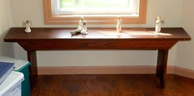 Vintage Oak Bench ~ Beautiful!