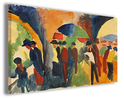 Quadro moderno August Macke vol VI stampa su tela canvas pittori famosi