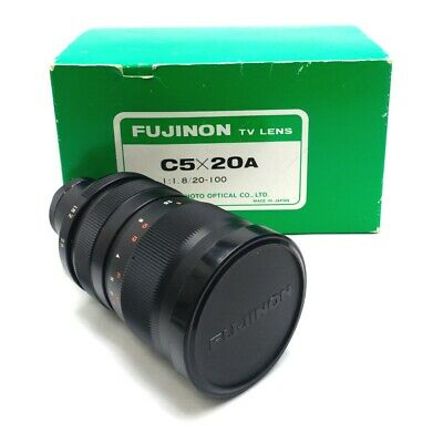 Fujinon C5X20A Machine Vision Lens 20-100mm Focal Length 1:1.8 Aperture C-Mount