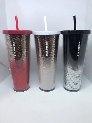 Starbucks Holiday 2018 Sequin Cold Cup Tumbler Venti Cup (24oz) NEW!! FREE SHIP