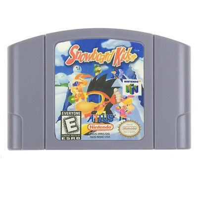 For Nintendo N64 Game Snowboard Kids Video Game Cartridge Console Card US /CAN