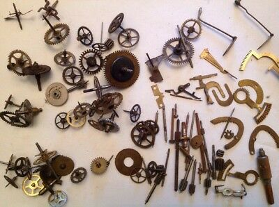 Clockmakers Cogs Wheels Racks Escape Leaders Spare Parts Collection