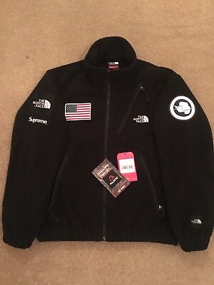4020822f Supreme x The North Face TNF Trans Antarctica Expedition Fleece Black  Medium DS