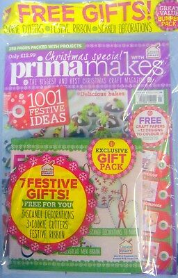 Prima Makes Christmas Magazine With Seven Festive Free Gifts And Many Ideas New