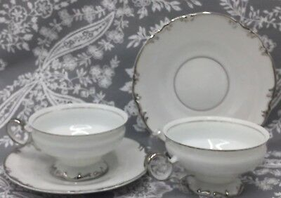 Set of 2 Mikasa Marlboro 9267 Coffee Tea Cups And Saucers Made in Japan EVC