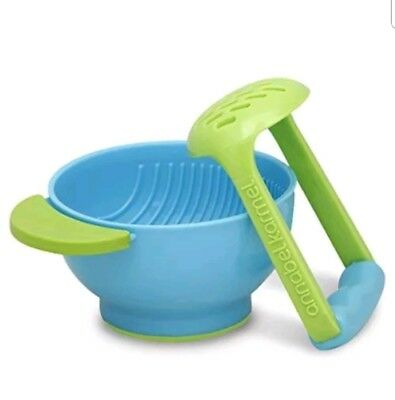 NUK Mash and Serve Bowl for Making Homemade Baby Food - Microwave Safe FREE SHIP