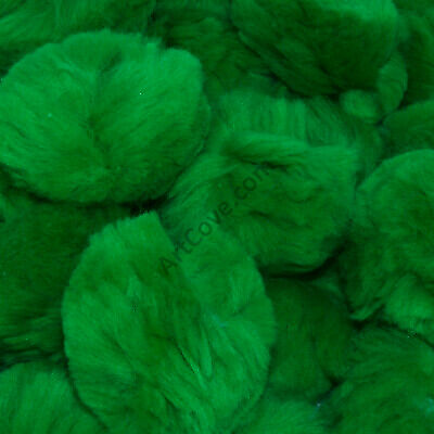 1 inch Kelly Green Small Craft Pom Poms 100 Pieces