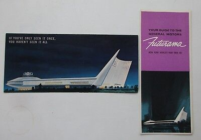 2 General Motors / GM Futurama brochures for 1964 -1965 NY Worlds Fair