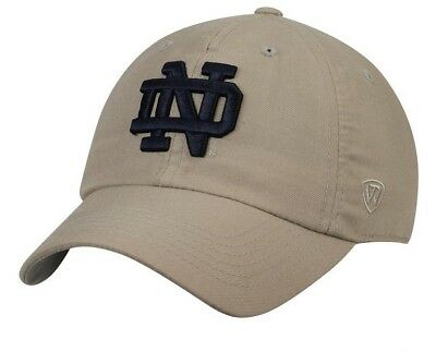huge selection of 5ea21 e93c9 Notre Dame Fighting Irish Top of the World Khaki Adult Adjustable Hat OSFA