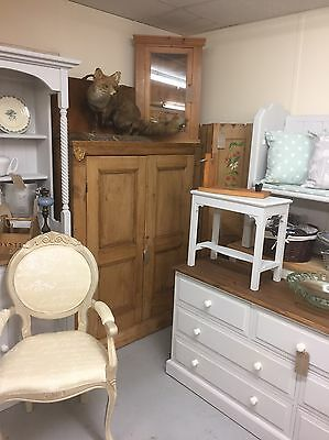 Small Antique Pine Cabinet Cupboard Vintage.Furniture Showroom Whitstable Kent