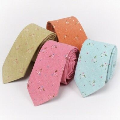 High Quality Men Business Hot Cotton Blends Ties Floral Neck Tie Fashionable F