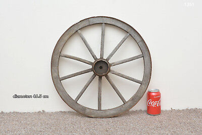 Vintage old wooden cart wagon wheel  / 46.5 cm FREE DELIVERY